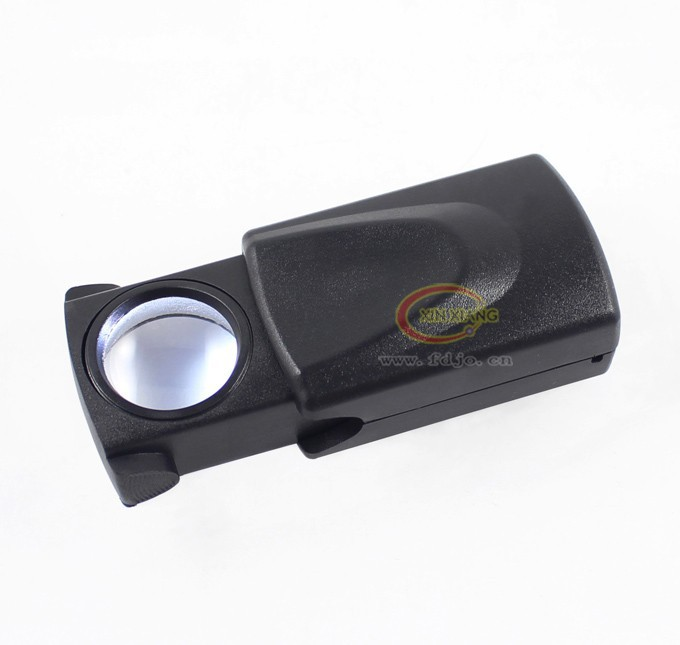 2014 NEW Withdrawing Jeweler Loupe Glass Loop LED Magnifier