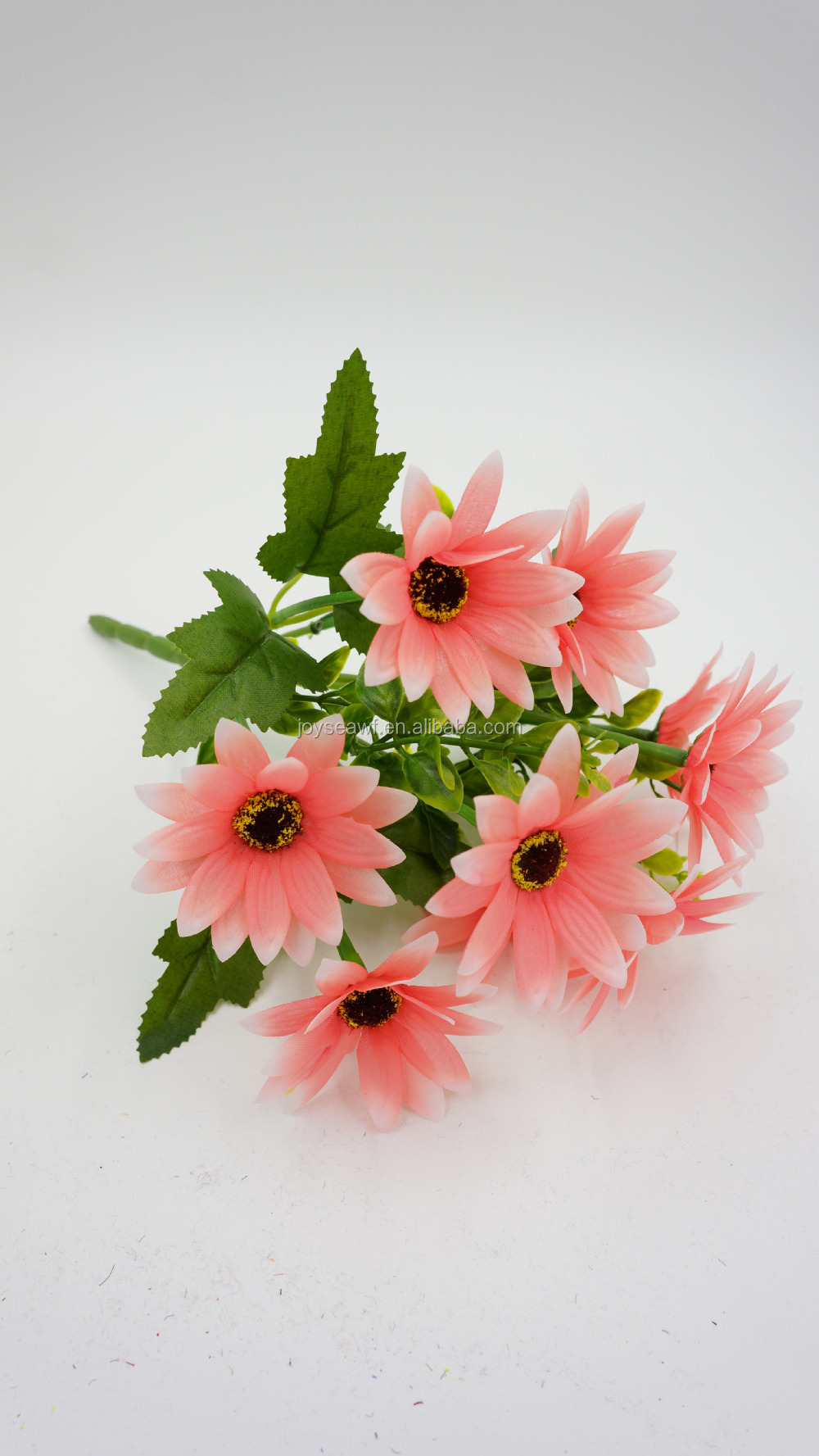 Artificial light red chrysanthemu flower decorative PE and silk flower
