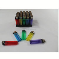 China factory cheap price FL-601 transparent color plastic disposable flint mini bbq lighter
