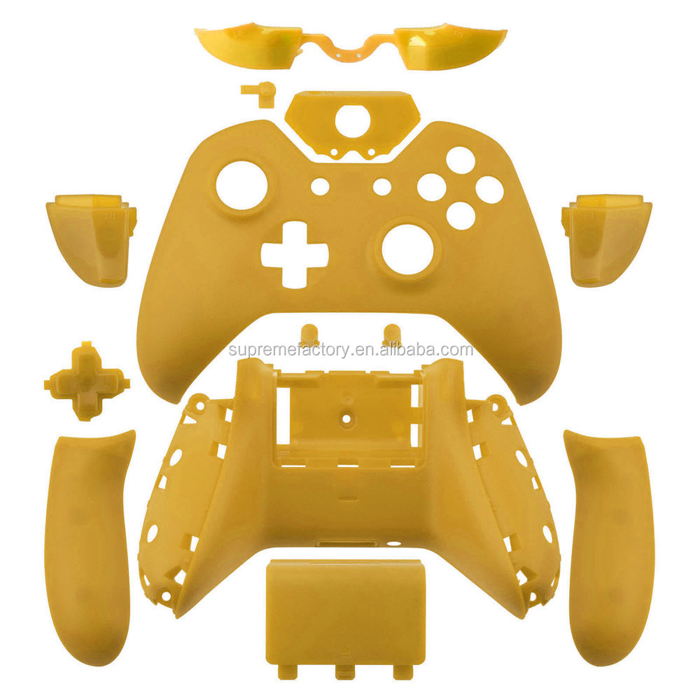 Matte Yellow Wireless Controller Shell Set with Unlock Tool for New Xbox One Controller with 3.5mm headphone Jack