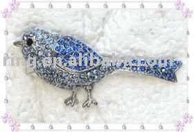 Fashion animal crystal phoenix bird lizard brooch pin
