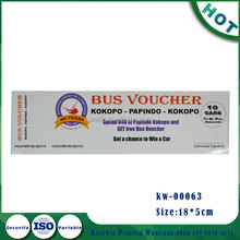 Blue Color Voucher Ticket Printing With Serial Number
