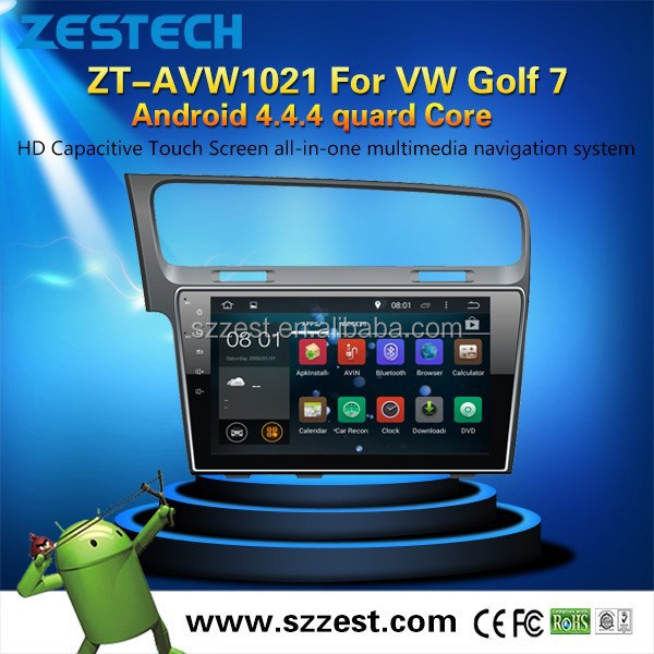 2015 Newest Large Screen Android car DVD player for VW Golf7 with GPS radio with 3g wifi BT pod SD