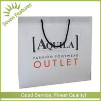 white kraft paper tote shopping bag paper gift bag with cotton handle