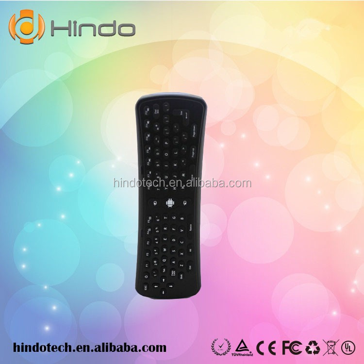 2.4GHz wireless Keyboard ABS silicone material Mini Fly Air Mouse for google android Mini PC TV Player box various languages