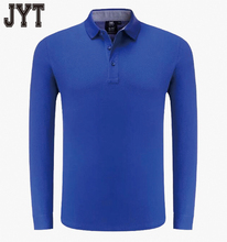 Wholesale Long Sleeve 6XL Mens Polo Shirts Blue Color Polo Shirt Soft Touch Jersey