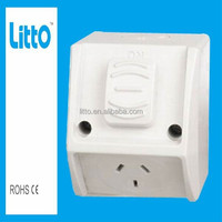 Waterproof Double Power Point Socket Combined Outlet 15A 1 Gang