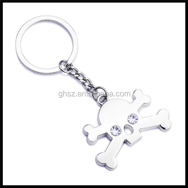 Personalized new idea metal skull head keyrings company