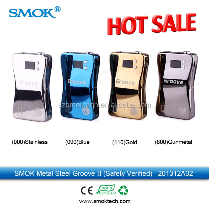 2014 top quality vape e cig box mod Smok groove II variable voltage and wattage box mods