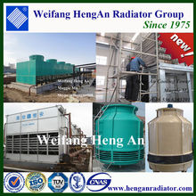 Open and closed round cooling tower