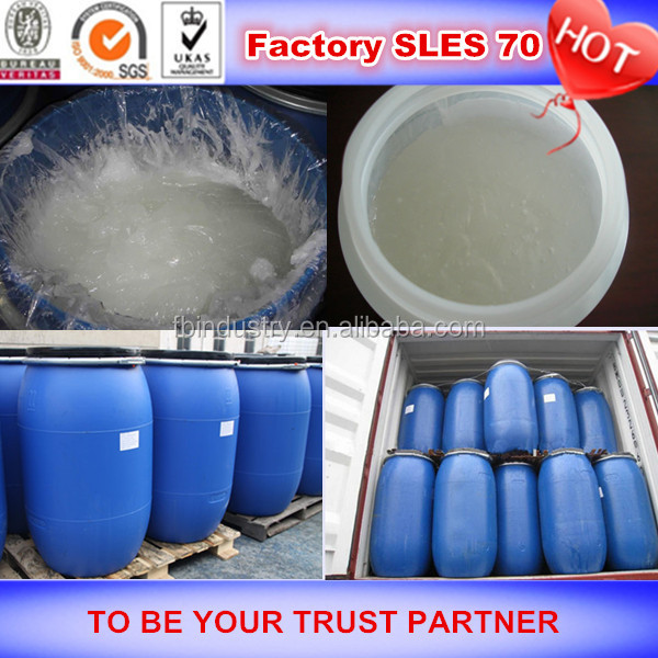 Good quality raw materials sodium lauryl ether sulfate sles 70% for dishwashing liquid professional manufacturer