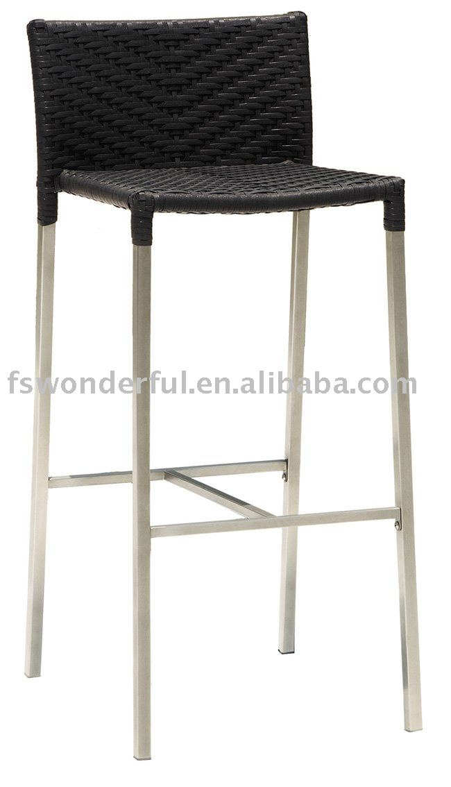 WF-3222 rattan/wicker barstool in patio furniture