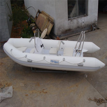 2018Alibaba aluminum floor PVC inflatable rubber motor boat for sale