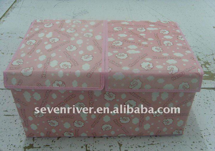 Square Non-woven Foldable Storage Boxes/Storage Case With Lid