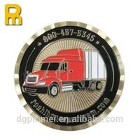 Customized metal numbered coin with imitation hard enamel
