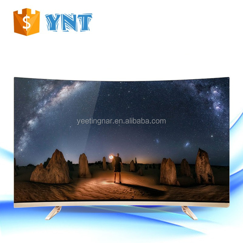 Ultra slim television 32 inch curved led tv with A grade panel smart led tv 65-inch curved led tv parts led television