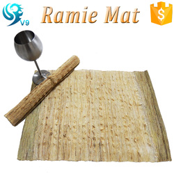 100% natural and eco-friendly handwoven home gift ramie table mat