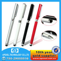 2 in 1 stylus touch Pen for iphone ipad,laptop,mobile phone