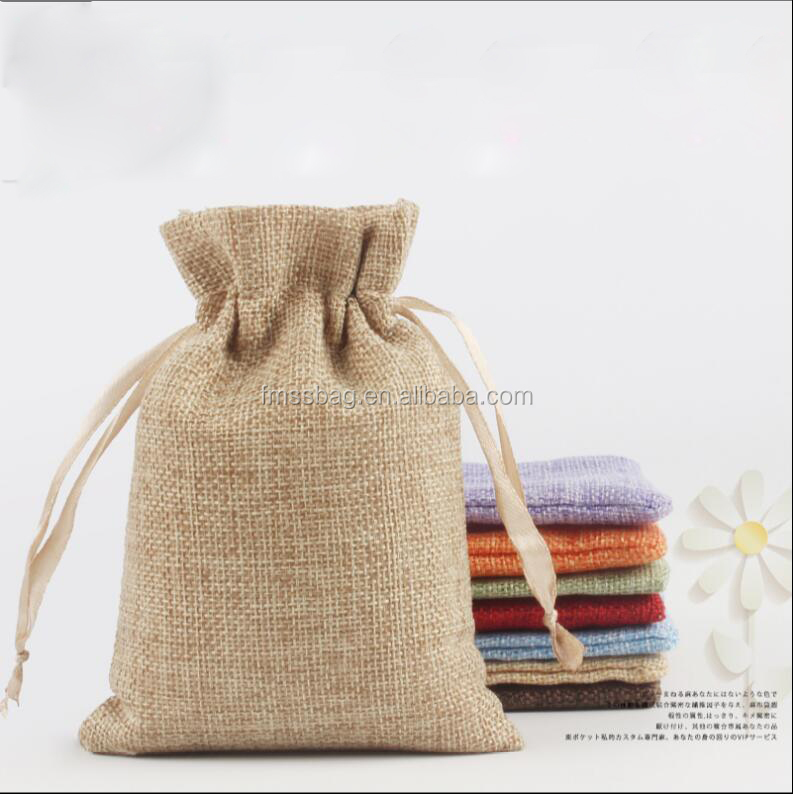 Cheap Taobao Personalized Design Canvas Cotton Drawstring Bag Calico Muslin Pouch Small Gift Bags