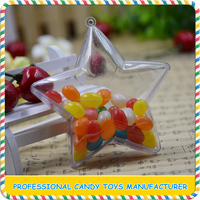 Clear star shape plastic candy containers