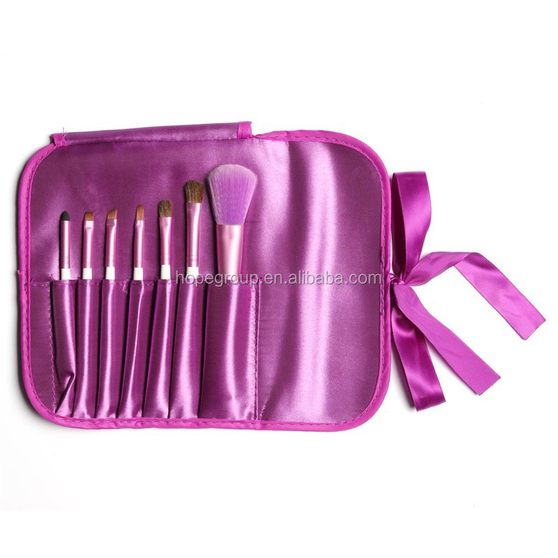 HOT sell 2015 New Classical Fashion Lady Face Cosmetic Brushes Tool Set 7Pcs Makeup Brush Kit Bag Pouch Women Make up Cases