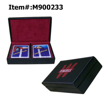 Wholesale High Quality PVC Leather Display Playing Card Box