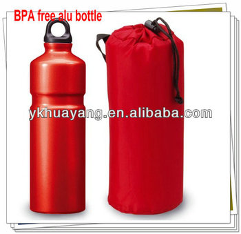 BPA-free Alu bike bottle 500ml with color painted(HY-D090)