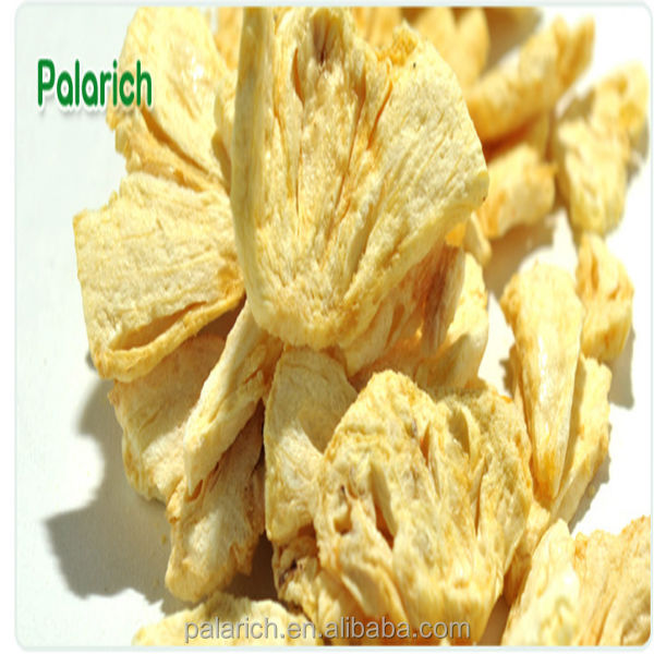 Natural healthy snacks dried pineapple crisps