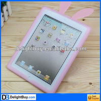 Rabbit Silicone Case Cover + Suction Stand for Apple iPad 2 (random color)