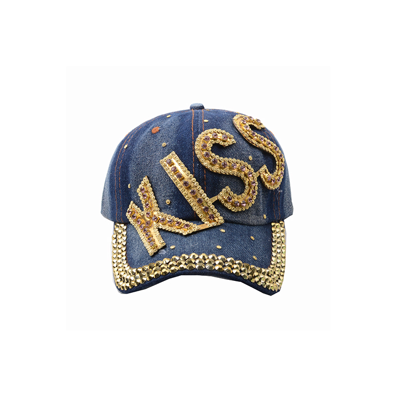 3D embroidery new design letter logo denim baseball cap