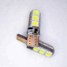 Wholesale Car reading Reverse License plate W5W Canbus Silicon LED Interior Light 5050 6SMD T10