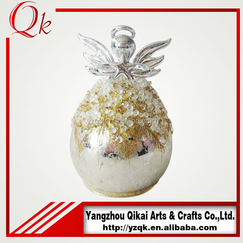 popular glass angels glass crafts with small size for festival decoration