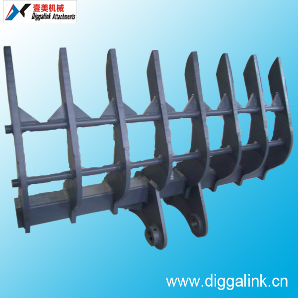 Root Rake for Mini Excavator and Bulldozer