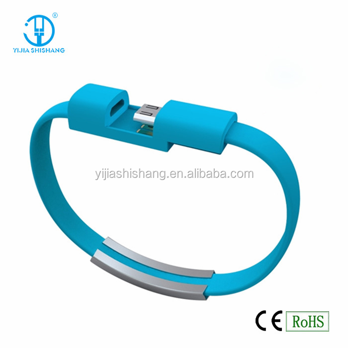 2015 New Design Bracelet USB Charging Line Cable from Shenzhen Factory