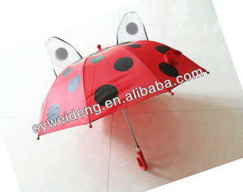 10 ribs children dome red decorative umbrella