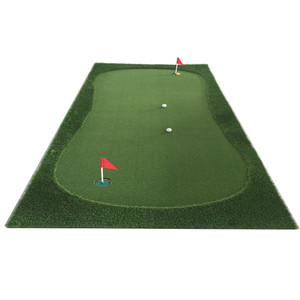 YGT Portable Indoor mini golf Putting green with Practice Surface carpet