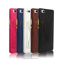 Mobile Accessories Leather Cell Phone Back Cover Cases for ZTE Nubia Z9 Max with Stand Function