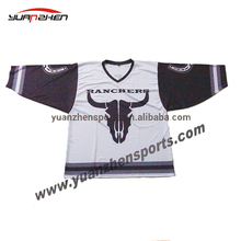 OEM service 100% polyester high school custom ice hockey jersey club team uniform