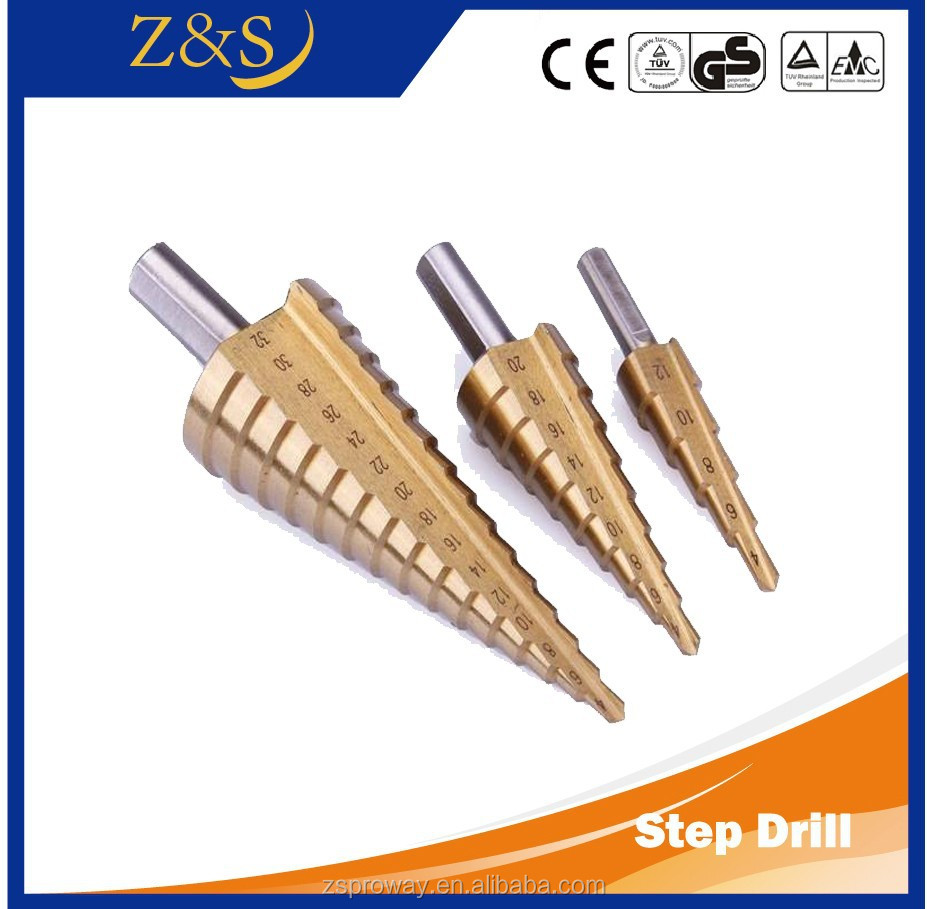 High Quality HSS Titanium Coated Twist Drill Step Drill Bit Made in China