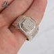 Factory direct sale hand made cz 2 carat diamond ring price+boss finger ring