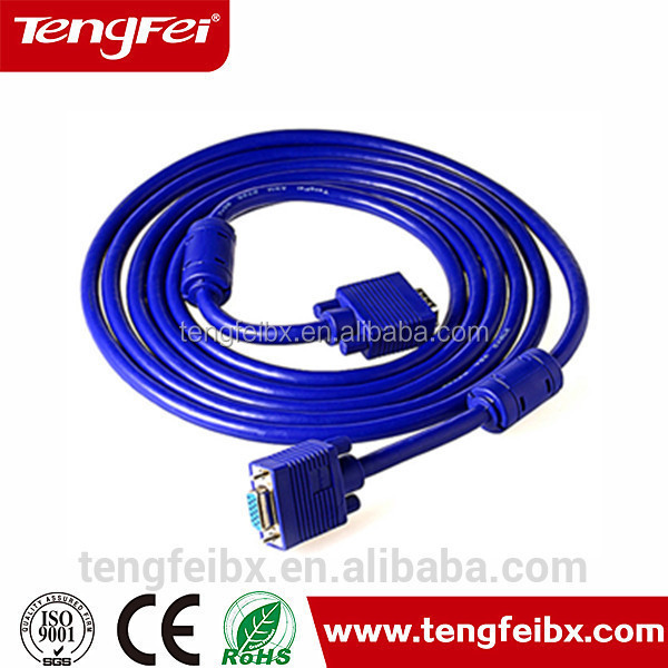 Gold planted VGA Cable,rs232 to vga adapter from china manufacture
