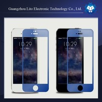 Hot selling! 0.33mm 9h Colored tempered glass screen protector for iphone 5/ 5s