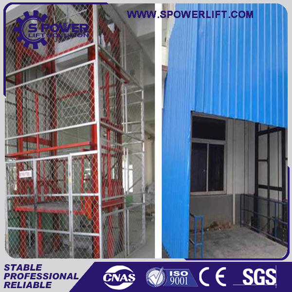 high safety hydraulic used cargo building lift drawing elevator