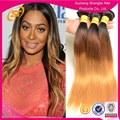 Peruvian 3 tone color ombre hair bundles, 3tone colored 100% remy Human hair