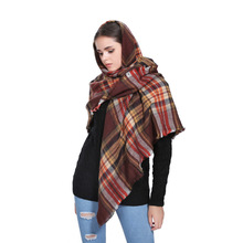 Cosum brand fashion plaid spanish flamenco manton shawl