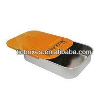 custom design round food grade slide tin case