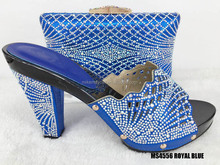 Best quality italian african shoes and bag crystal wedding