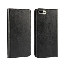 Real Leather Wallet Mossgreg Card Slot Classic Folio Case - Book Design with Stand For iPhone 5/5s/SE/6/6s/6Plus/6s Plus/7/7Plus