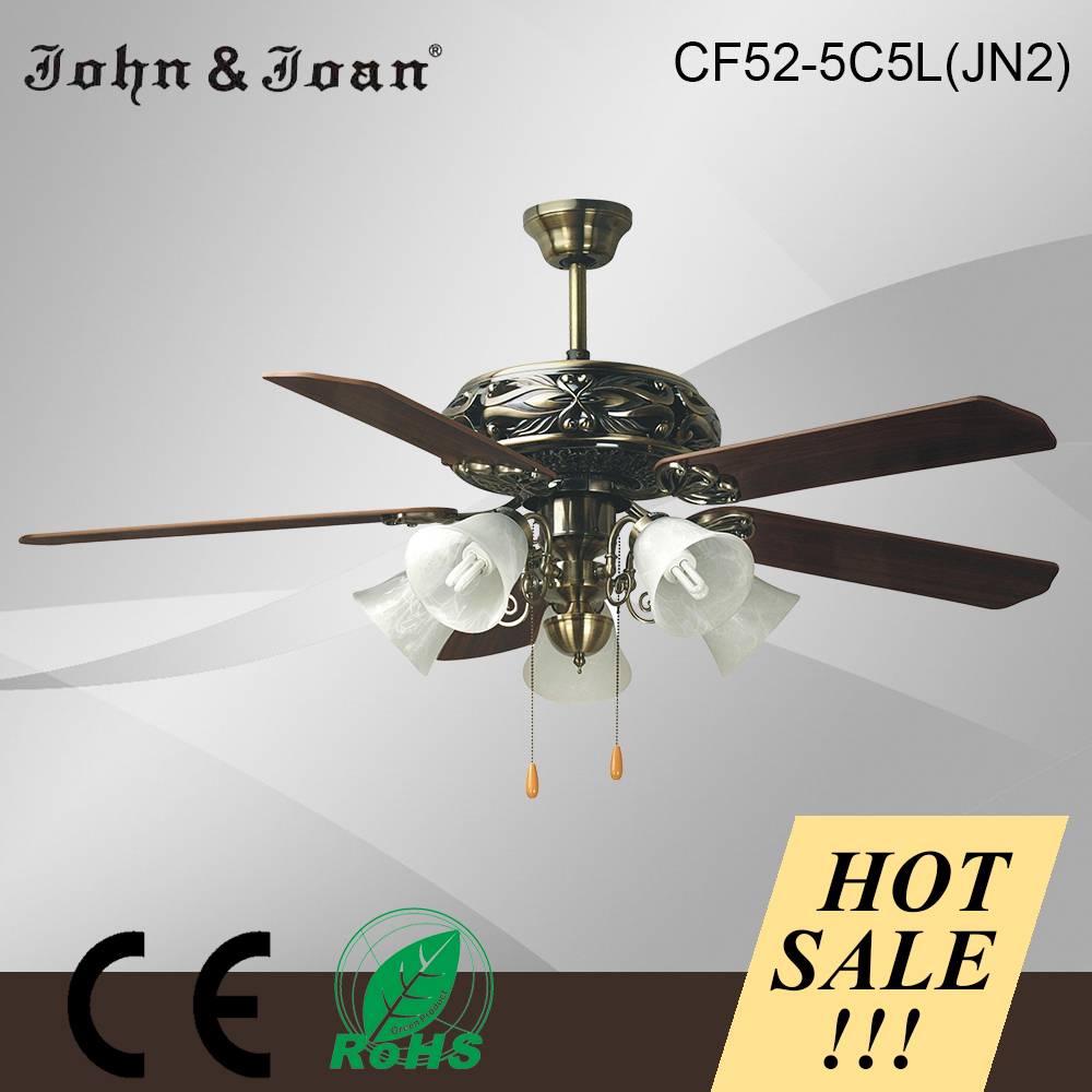 2015 Vintage Style Remote Control Ceiling Fan Wall Mounted Blade Fan