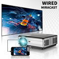 Smart Bluetooth wifi LED Android projector with Wired screen mirroring function for sale